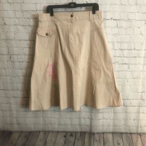 Khakis and Pink Girls Flare Skirt Size: 2X